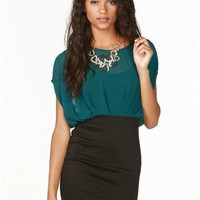 A'GACI Dolman Sheath Dress