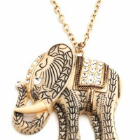 elephant-charm-necklace-set GOLDCREAM - GoJane.com