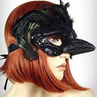 Black Crow Bird Beak Mask | PLASTICLAND