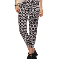 High Rise Abstract Harem Pants