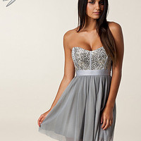 Sequin Bandeau Mesh Dress, Elise Ryan