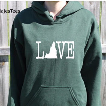Love Virginia Hoodie, Virginia Sweatshirt, Home, State