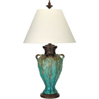 Glen Falls Turquoise One Light Table Lamp Bradburn Gallery Shaded Table Lamps Lamps