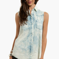 Sun Bleached Denim Shirt $36 (on sale from $52)