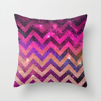 CHEVROn Throw Pillow by Monika Strigel