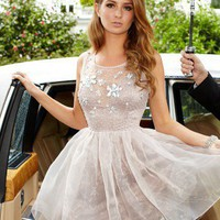 Lipsy V I P 3d Flower Embellished Prom Dress