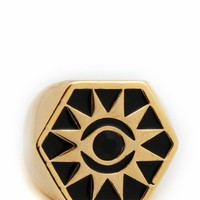 hexagon-medallion-ring GOLDBLACK GOLDFUCH - GoJane.com