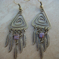 Modified Dream Catcher - Brass Earrings