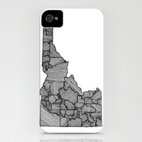 Idaho Lines iPhone Case by Romi Vega | Society6