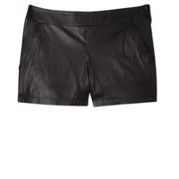 Light Leather Shorts by Theory