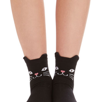ModCloth Cats Across Your Path Socks