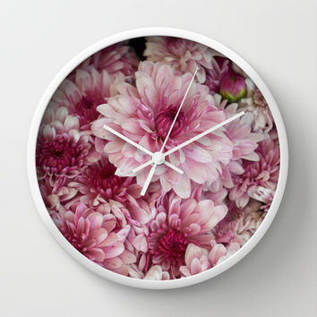Dead Pink Wall Clock by RichCaspian | Society6