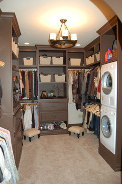 laundry in the closet