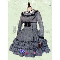 Discount Long Sleeves Cross Straps Multi-Layer Classic Lolita Dress on Sale [TQL120426014] - £48.59
