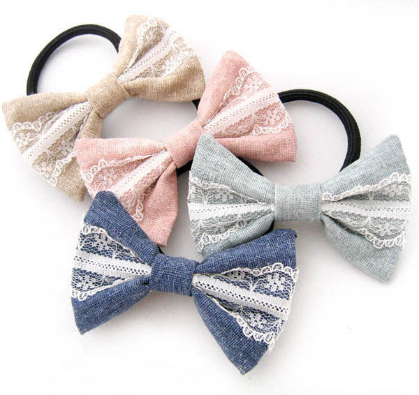 YESSTYLE: Fit-to-Kill- Laced Bow  Hair B& / Hair Pin -Green - Free International Shipping on orders over $150