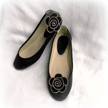 Zipper flower shoe clip, Zipper flower, black metal zipper, black Flower Shoe Clips, size Approx 2,6 in/ 6,5 cm.- recycled jewelry