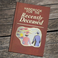BLANK BOOK Journal - Handbook for the Recently Deceased - BEETLEJUICE  sketch book, Movie Prop, Tim Burton, Alec Baldwin, Michael Keaton