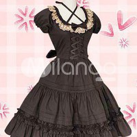 Cotton Black Lace Classic Lolita Dress - Milanoo.com