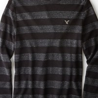 AEO Men's Heritage Striped Thermal (Storm Heather)