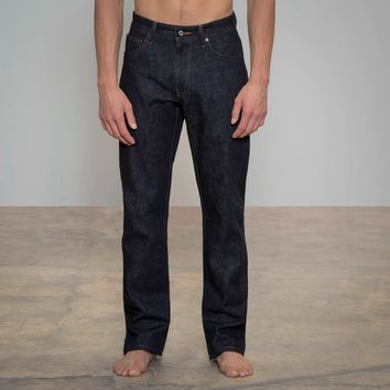 Mens Jeans Made in USA - Relaxed Pro Selvedge Dark | Todd Shelton