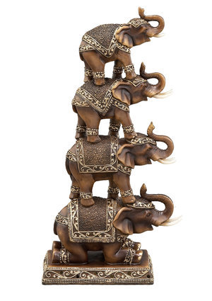 ideeli | UMA ENTERPRISES INC. 15'' Stacked Elephant Statue
