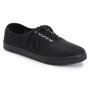 Aeropostale  CoXist Faux Leather Sneaker - Black,