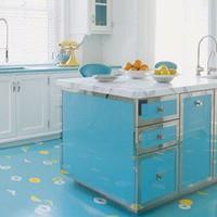 Shiny Blue Kitchen | materialicious
