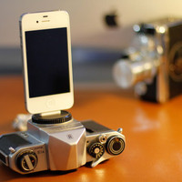 Dock for iphone / charger from vintage camera - PENTAX
