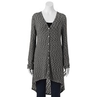 About A Girl Marled Knit Duster Cardigan - Juniors