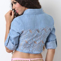 Denim Belle Crop Top