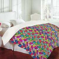 DENY Designs Home Accessories | Bianca Green Braids Rainbow Duvet Cover