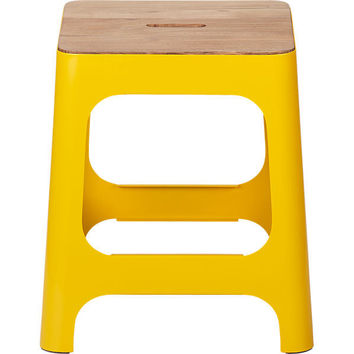 hitch marigold stool in dining chairs, barstools | CB2