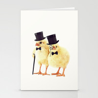 Not CHEEP (Version 1) Stationery Cards by John Medbury (LAZY J Studios) | Society6