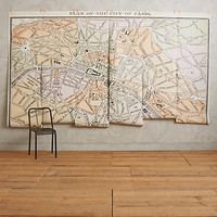 Paris Map Mural by Debbie Mckeegan Assorted One Size Wall Decor