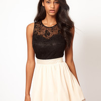 Lace Bustier Prom Dress