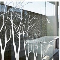 Wall Decal wall decor Wall Sticker tree decal murals,wall stencil wall art-7 winter trees