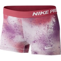 "Nike Women's Pro Core 3"" Printed Compression Shorts 