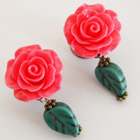 Glamsquared — Flower Girl Cute Dangle Plugs