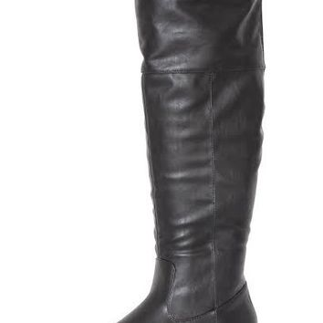 Lily Flat Over the Knee Black Boot   Ball Band