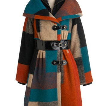Plenty by Tracy Reese Plenty by Tracy Reese Appalachian Outing Coat | Mod Retro Vintage Coats | ModCloth.com