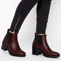 New Look Elmo Red Block Heel Chelsea Boots at asos.com