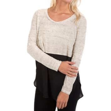 Lush Juniors Long Sleeve Color Block Top at Von Maur