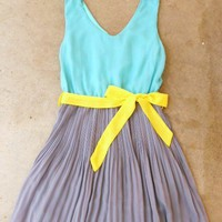 Clearwater Colorblock Dress in Mint [2540] - $24.94 : Vintage Inspired Clothing &amp; Affordable Summer Dresses, deloom | Modern. Vintage. Crafted.