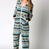 Beth Knitted Hooded Fairisle Onesuit
