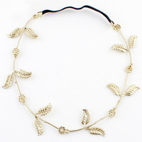 Fashion Gold Leaves Hair Accessories - Sheinside.com