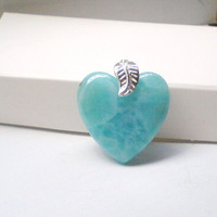 Turquoise Larimar Blue Heart Amazing piece Fall fashion