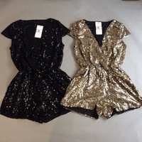 Bling It On Sequin Romper - Gold NOW AVAILABLE! | Daily Chic