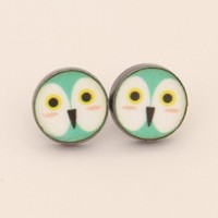 JAN2e : Animal Studs - Purple Owl - earrings & studs - jewellery