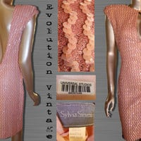 Vintage Pink Backless Sequin Mini Dress by EvolutionVintage