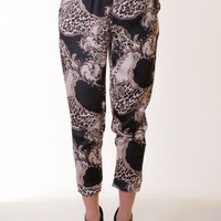 BLACK BAROQUE CHAIN PANTS @ KiwiLook fashion
